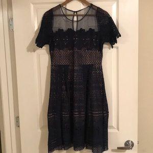 Dresses & Skirts - Navy Cocktail Dress. Lightly worn